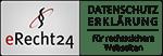 Logo eRecht 24 für Datenschutzerklärung